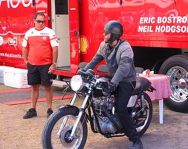 Triumph in the Ducati paddock