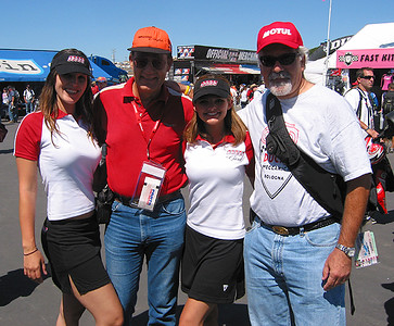 Frans & Corey with the Speed Channel Girls