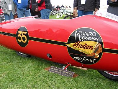 Burt Munro's Indian streamliner