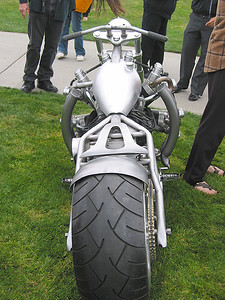 Ass-end of the radial engined chopper