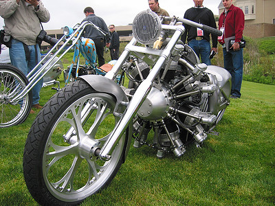 Jesse James' radial engined chopper