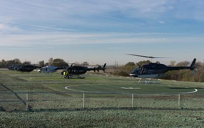 Six helipads; no waiting.