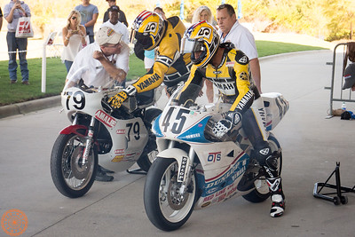 Colin Edwards rides his old TZ250