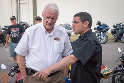 Mr. George Barber and Lee Conn (President of Motus Motorcycles)