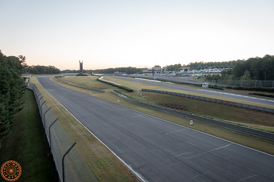The track at dusk