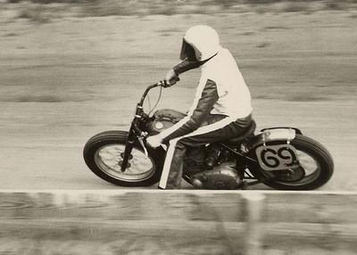 Ken racing a Gold Star