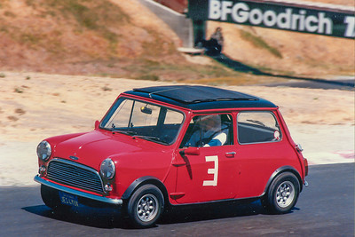 Me in my Mini at Sears Point - 1980s