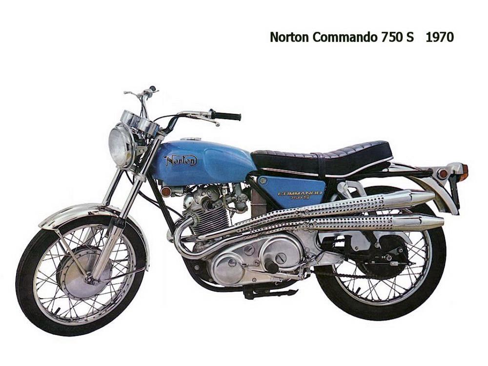 1970 Norton Commando 750S - Stock Photo