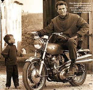 Clint Eastwood on the Norton 750 Commando S