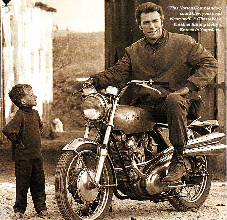 Clint Eastwood on the Norton 750 Commando S