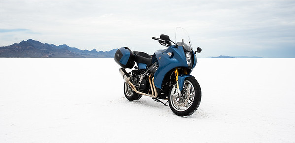 Promotional shot at Bonneville (not my bike)
