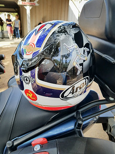 Mario's shot of my helmet