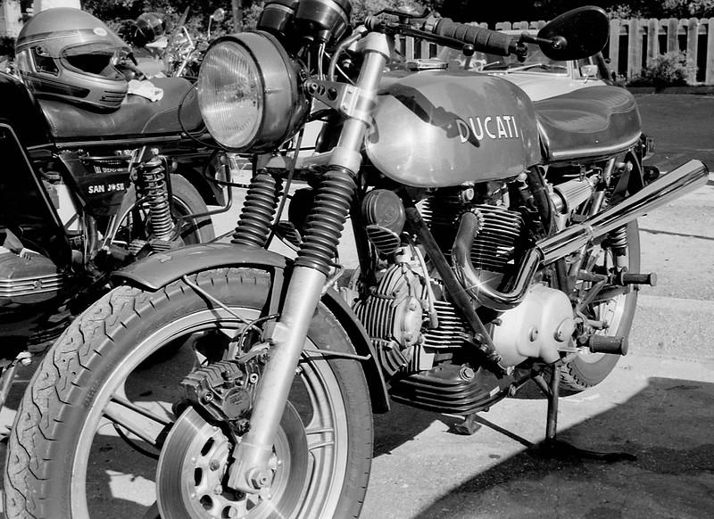 My old Ducati 750GT pre-fire