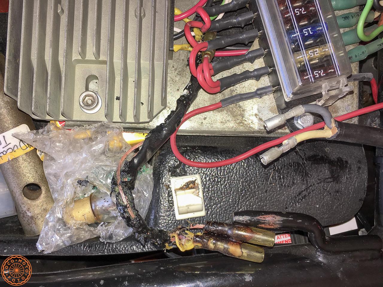 Fried voltage regulator leads
