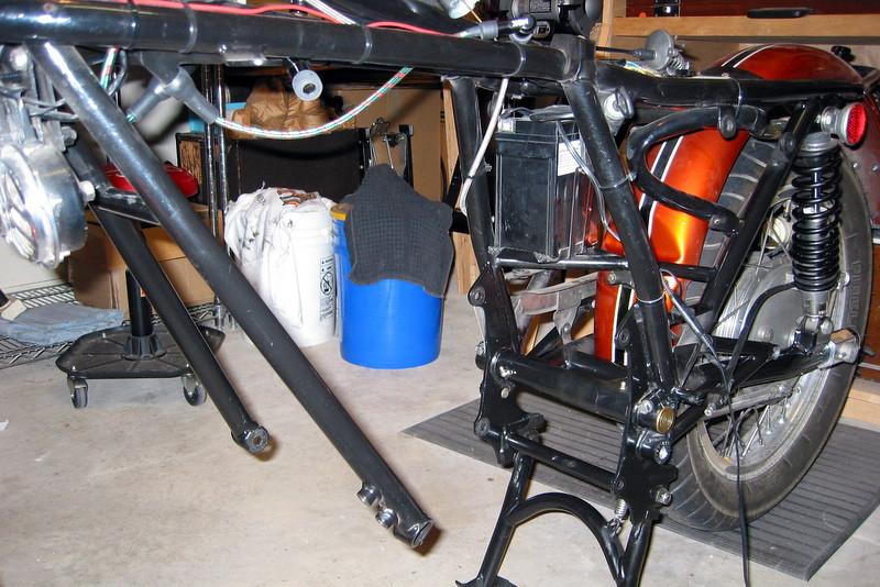 Frame awaiting the motor
