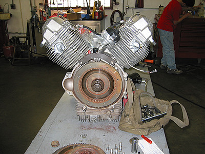 V-Twin Motor on the Bench