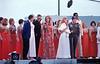 Bob Hope USO Show: Golddiggers, Roger Smith??, Penelope Plumber (Miss World 1968), Adam West, Linda Bennett, Ann Margret, Bob Hope, Rosey Grier  - December 19th, 1968 Osan Air Base, South Korea. Kodak Ektachrome. Konica AutoReflex T