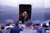 Bob Hope USO Show: Ann Margret getting off the plane at Osan - December 19th, 1968 Osan Air Base, South Korea. Kodak Ektachrome. Konica AutoReflex T