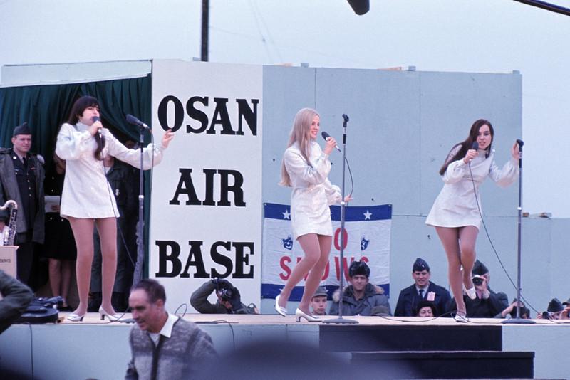 Bob Hope USO Show: The Honey Limited - December 19th, 1968 Osan Air Base, South Korea. Kodak Ektachrome. Konica AutoReflex T