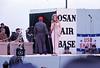 Bob Hope USO Show: Bob Hope, Linda Bennett - December 19th, 1968 Osan Air Base, South Korea. Kodak Ektachrome. Konica AutoReflex T