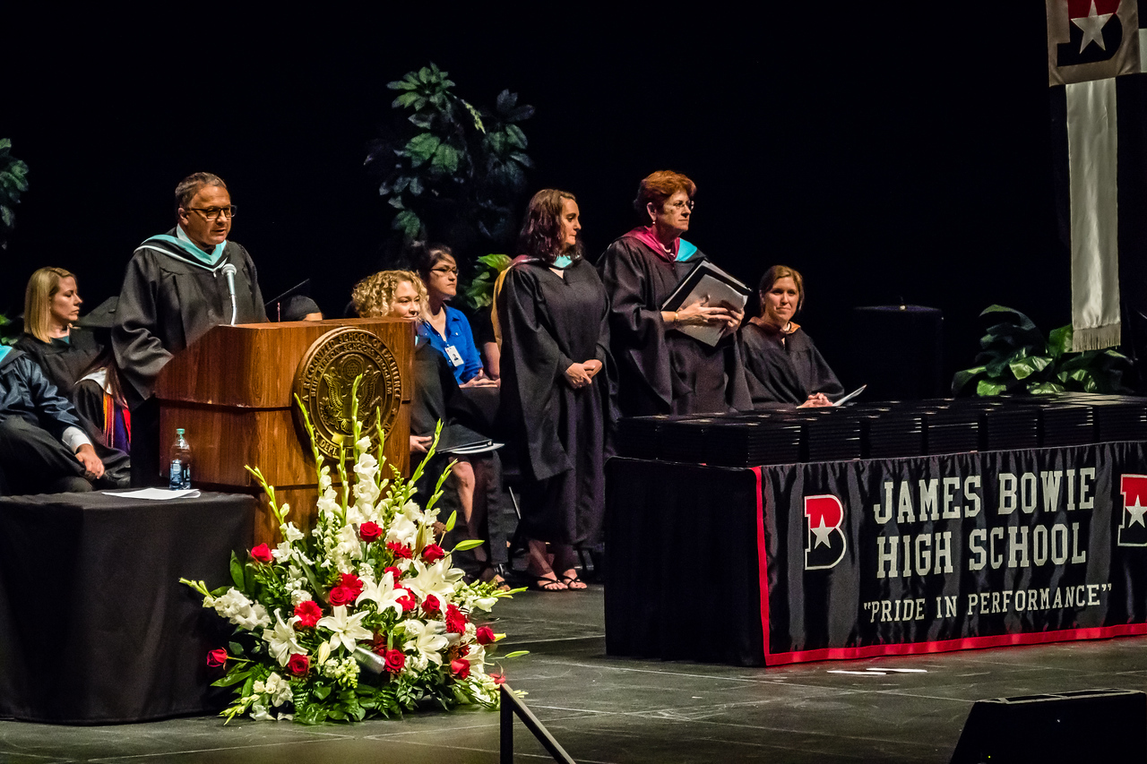 20160603 James Bowie High School Commencement-5