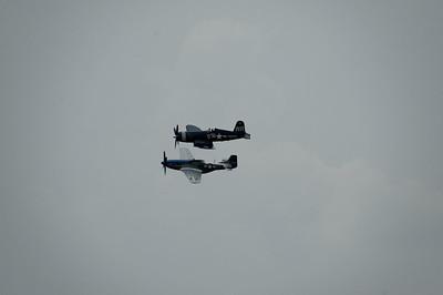 Selfridge Air Show  - F4U Corsair and P-51 Mustang