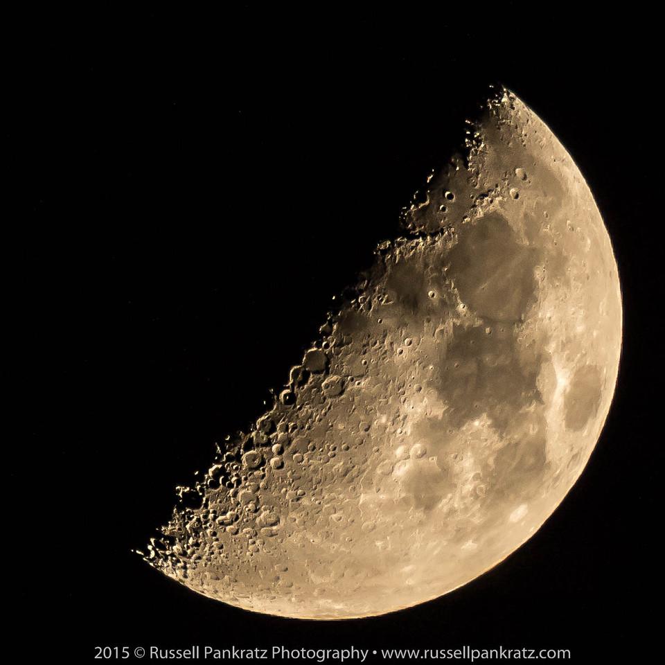 20150723 Waxing First Quarter Moon - 50%-0001