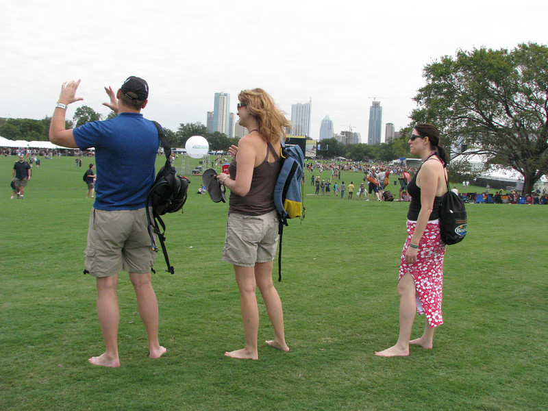 "We arrive, then pause to admire Zilker Park's beauty.  Scott describes the whole ""panorama"" photo technique."