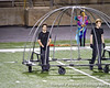 My son, Jordan, on the left.  The apparatus he is in will become the planet Neptune when the fabric skin that goes over the structure is complete.  2012-10-23 JBOPE at UIL Regional - Burger Center-0725
