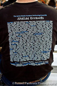 "Perhaps I should explain:    Stellae Errantés (The Wandering Stars) is the name of Bowie Band's program for the 2012 marching season.  The songs they perform, are about the planets in our solar system: Mars, Saturn, and so on, and the ""bird cages"" that you see scattered around the field during the show are the frameworks that I hope will eventually be covered with a skin that might resemble the appearance of the planets.  My son is one of the operators of Neptune, and so far neither he nor I have seen anything planetary yet.  The music, however is good, and they play it so well."