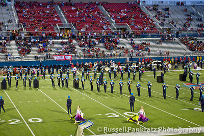 Westlake's Homecoming, so their band performed before the game to make time for homecoming ceremonies at halftime.