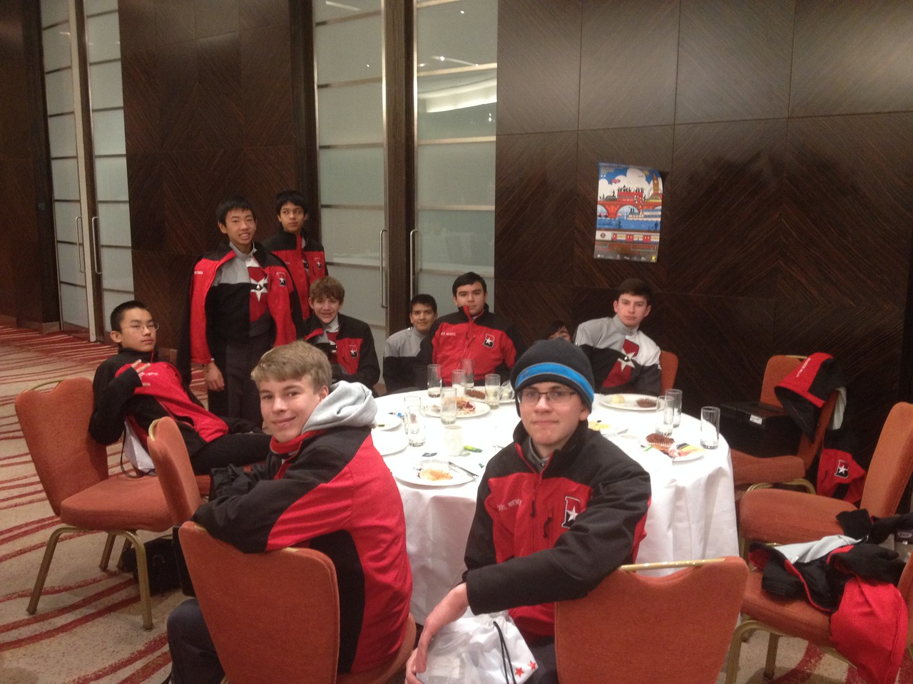 Group 9 at breakfast