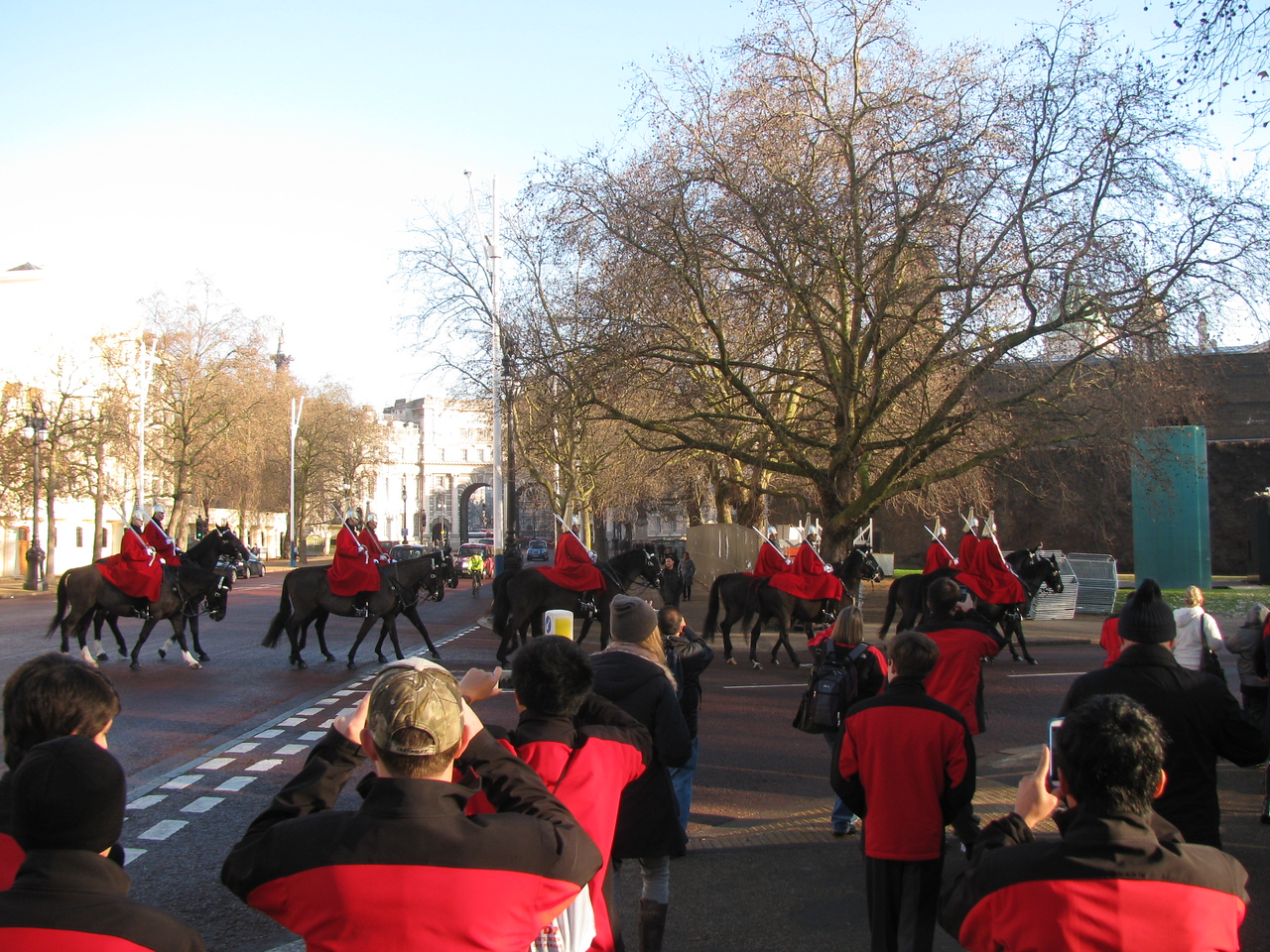 Taking pictures of the horse guard 2