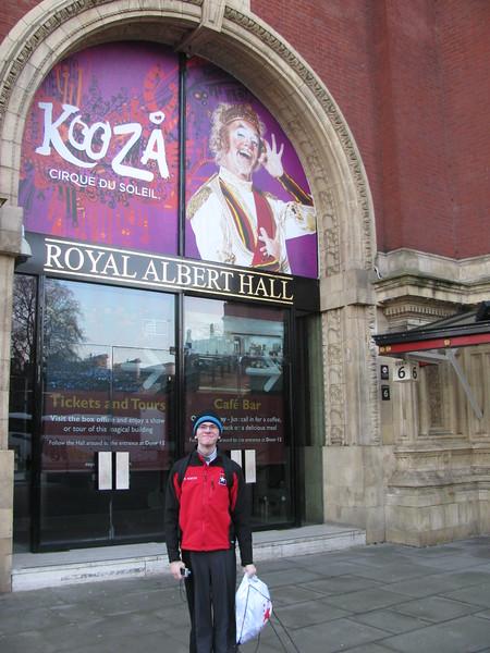 Carl at Royal Albert Hall