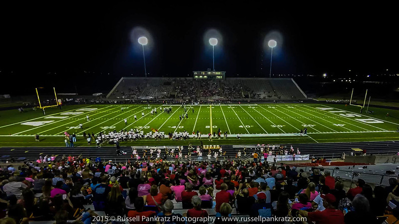 Time-lapse video. Burger Stadium's visitor-side view. The whole Bowie portion of halftime in 60 seconds. Click on this image to switch to the video player.