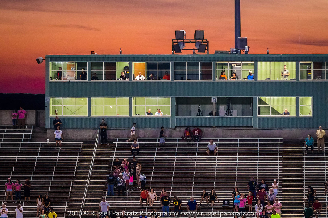 The visitor's view of Toney Berger Stadium.