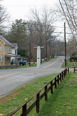 This is the white post of White Post, VA. It is related to surveying work done by Gen. George Washington and may be the northwest corner of the land he surveyed.