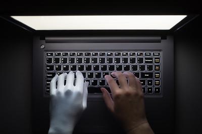 Computer Keyboard and Hand