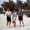 1960 - My dad, on the right, with friends at Nassau. - Kodachrome