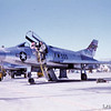Dad took this shot in 1954 of one of the first production F-100A's during testing at Nellis AFB.  F-100A-10-NA53-1555