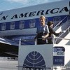 1960 - My mom getting on the plane for Nassau. - Kodachrome