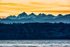 Olympic Mountains behind Whidbey Island