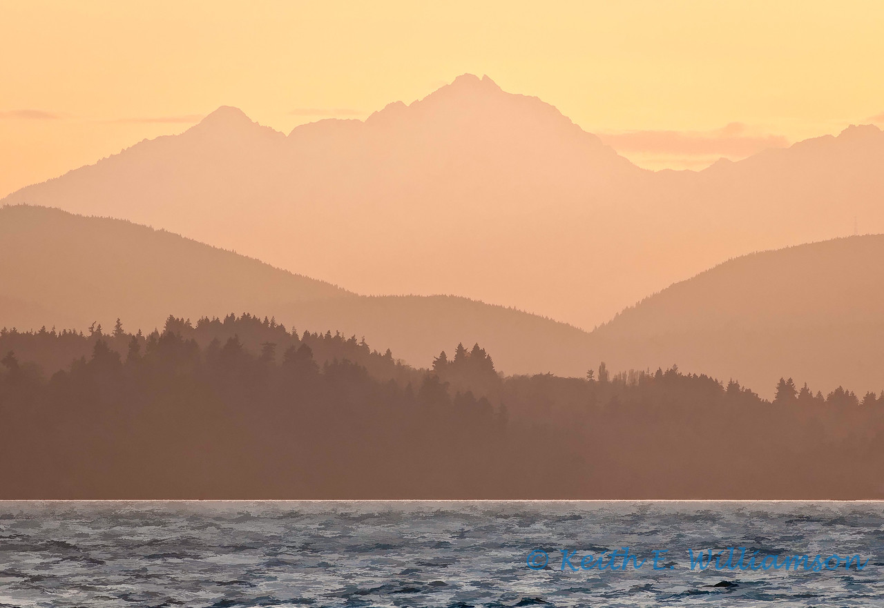 Olympic Mountains, from Alki Point, Seattle