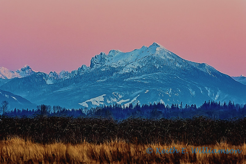 Mount Pilchuck, from Leque Island