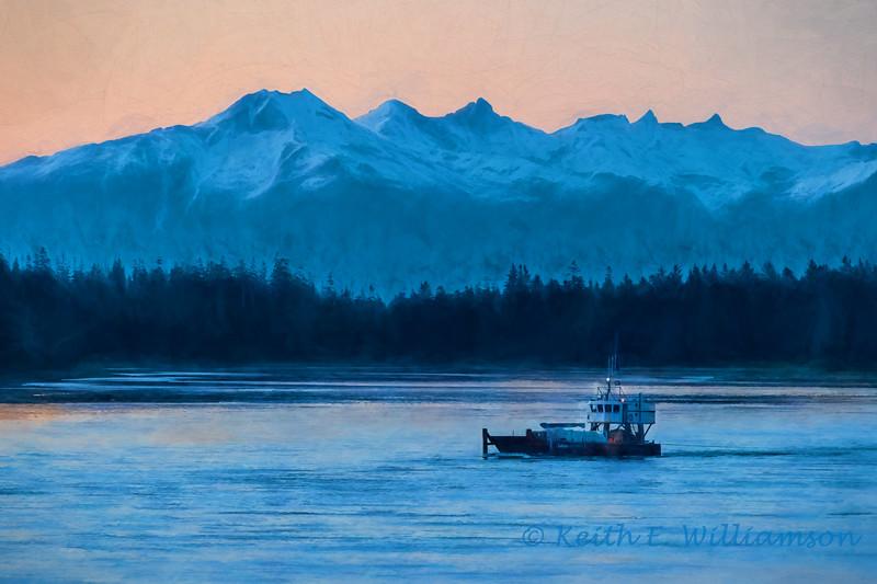 Dusk in Petersburg, Alaska