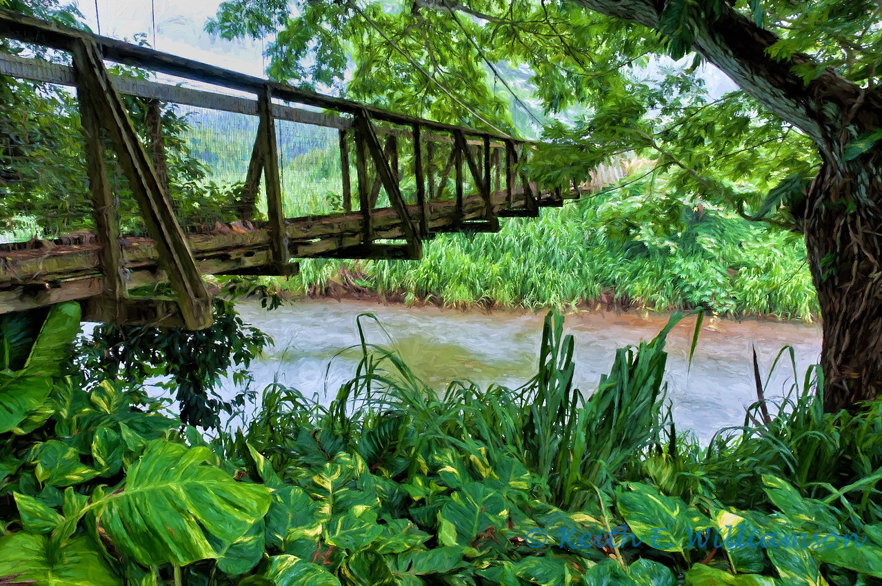Wailua foot bridge, Kauai