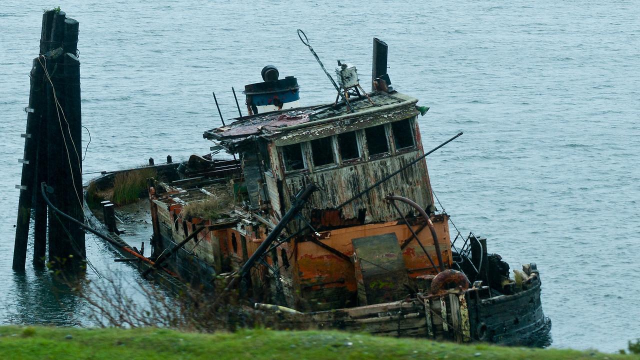 oregon coast near gold beach 21 old tug