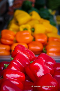 "02.29.12 = Pick your Pepper  What other fruit or vegetable comes in as many colors as the pepper?  Hmmm,  something to think about on this extra day in February.  ""Never overcook your vegetables, just threaten them.""  Unknown"
