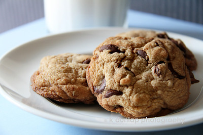 "06.08.11 = The Art of the Chocolate Chip Cookie  One of my goals in life is to make the perfect chocolate chip cookie.  I know, I know, not one of my more ambitious goals by some standards, but yet, an important one to me.  I ask you, what cookie is really better than chocolate chip cookie?  It truly fulfills all the essential cookie requirements; flavor, texture, chocolate, goes perfectly with milk and it has a low messy factor.  I've tried all kinds of recipes over the years, used all sorts of different ingredients and even purchased special pans, all trying to perfect the best chocolate chip cookie.  Well…I think I may have done it.  I think I've developed the perfect recipe for the chocolate chip cookie. I still have a little tweaking to do but, I think I've done it!  Now if I could only find some volunteer tasters…..  ""Who's with me; cookies and milk and a nap at our desks at 3:00?"""