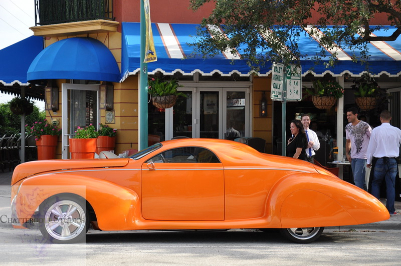 Vintage space age car on Atlantic Ave This Image is © Tricia Chatterton Goldrick/Chattergold Studios.  All Rights Reserved.  No duplication without permission (see commercial downloads).  This image may be downloaded from this website for blogging purposes only.